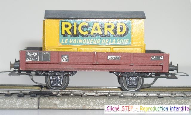 Wagons plats 2 ess maquette et semi maquette chargés par ordre alphabetique 120422115319878979754808
