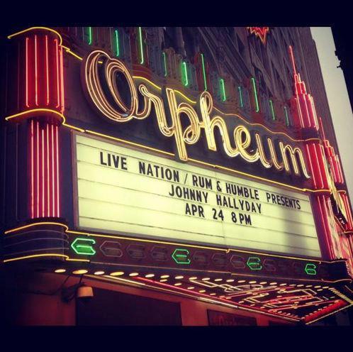 "Set list ""TOUR 2012"" JOHNNY HALLYDAY 24/04/2012 Orpheum Theatre (Los Angeles) 1204251026411423619764412"