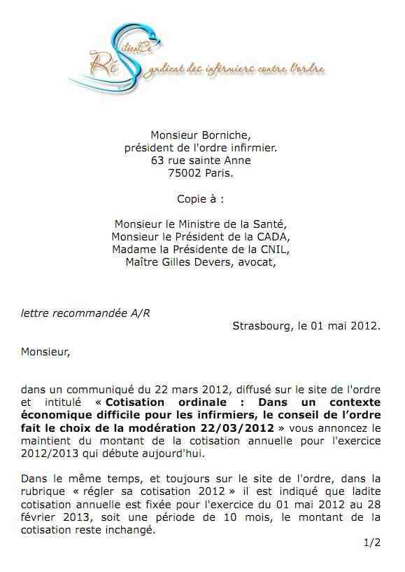 la lettre adressée le 01 mai 2012 au beurk 1205050424121139709808424