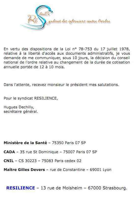 la lettre adressée le 01 mai 2012 au beurk 1205050424131139709808425