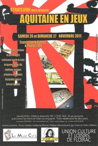 Week-end Jeux à Floirac (33) les 26 & 27 novembre 1205060738421415039815448