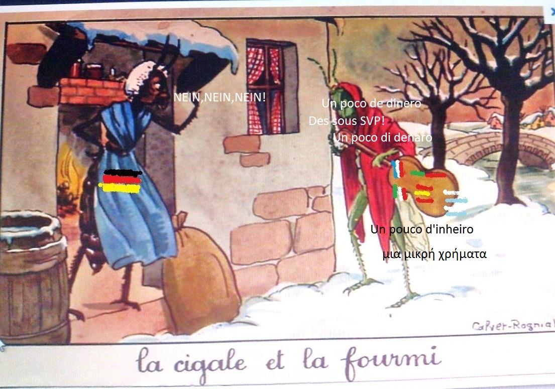 Les Cigales: ( Grèce, Espagne, Portugal, Italie, France ) et la fourmi    (l'Allemagne)  dans Non classé 1205250344431394999898968