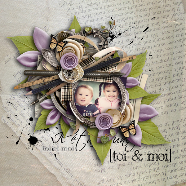 page kit For the love of words by lilas