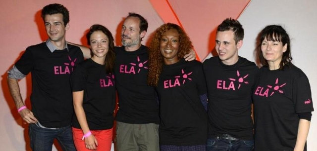 Les comédiens s'engageant dans l'association ELA 1206181034221304239997138