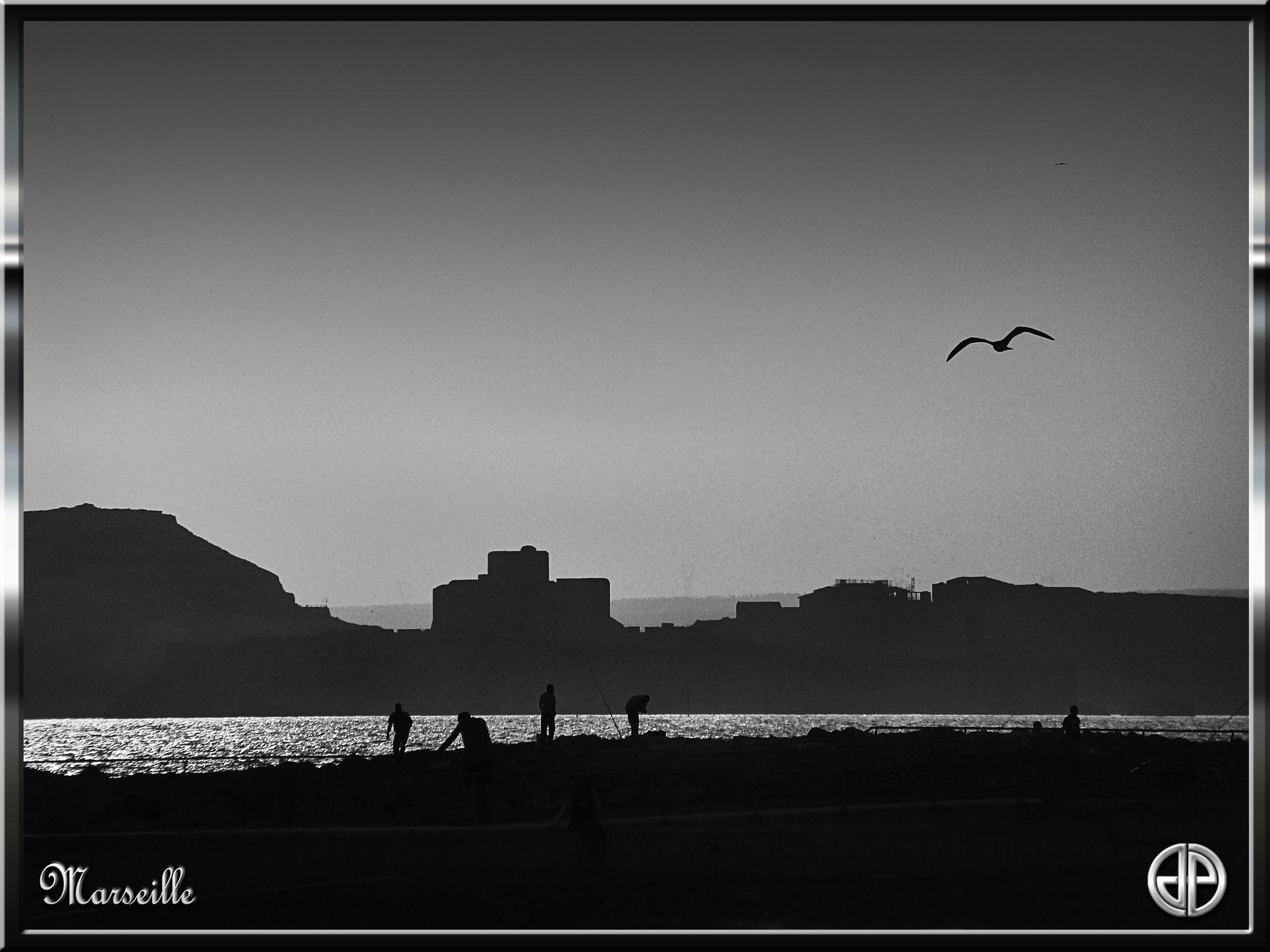 Marseille-noir-&-blanc-Château-d'If-02