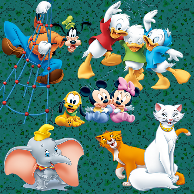 12072002485213662710124992 7 Scrap kit Disney + Bonus pour scrapbook, Photoshop, Photoframe
