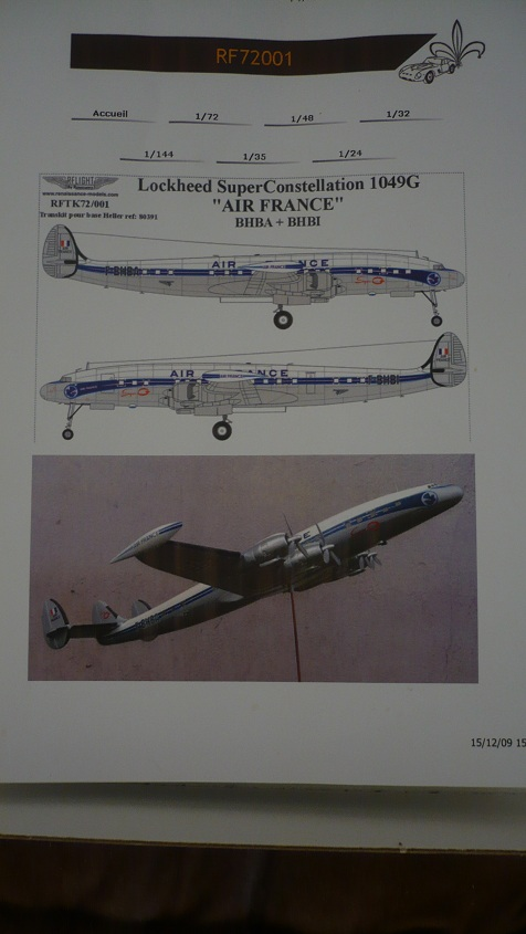 Lockheed Super Constellation 1/72 12072306213111093710135428