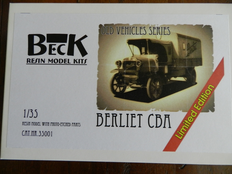 WWI BERLIET CBA ( 1/35 BECK MODEL) 12073112273315063810161529