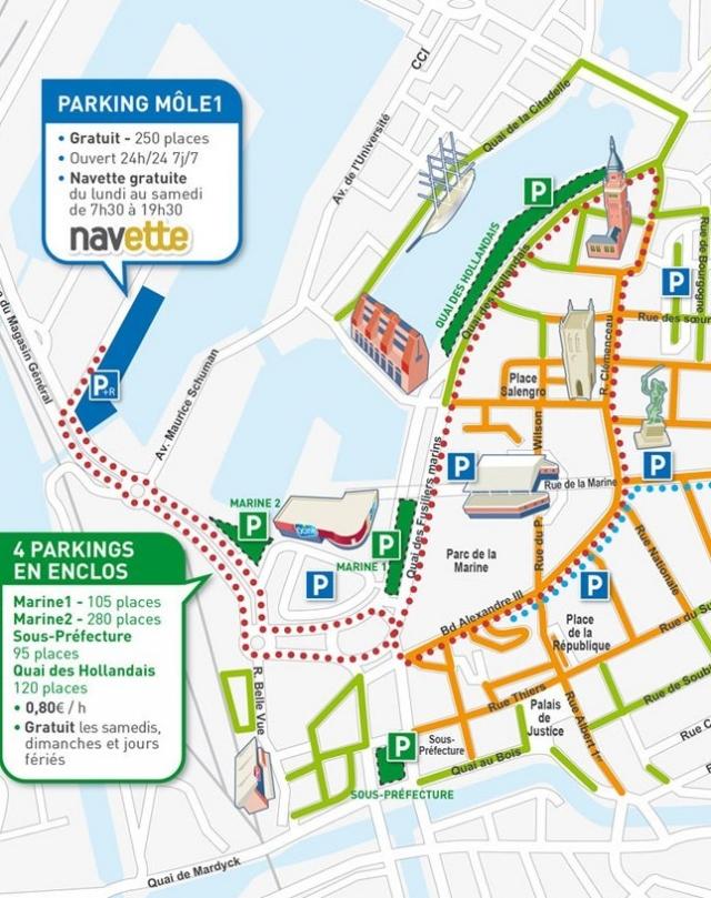 Lopen, fietsen, rijden en parkeren in Duinkerke 12080112153414196110165076