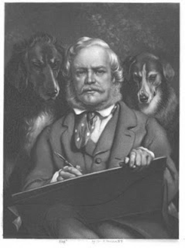 Peinture de Sir Edwing Henry Landseer dans t) L'ARDECHE MOUN POI 12081703412315299610218675