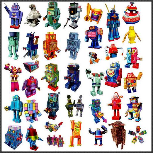 40 ROBOTS A VOTRE DISPOSITION ! dans Papertoy 12090601024015263610288636
