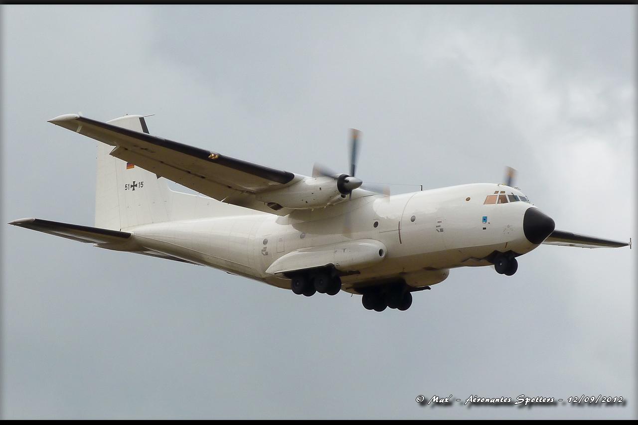 "[12/09/2012] Transall C160 (51+15) German Air Force : livrée ""Albinos"" 12091208294715267110311732"