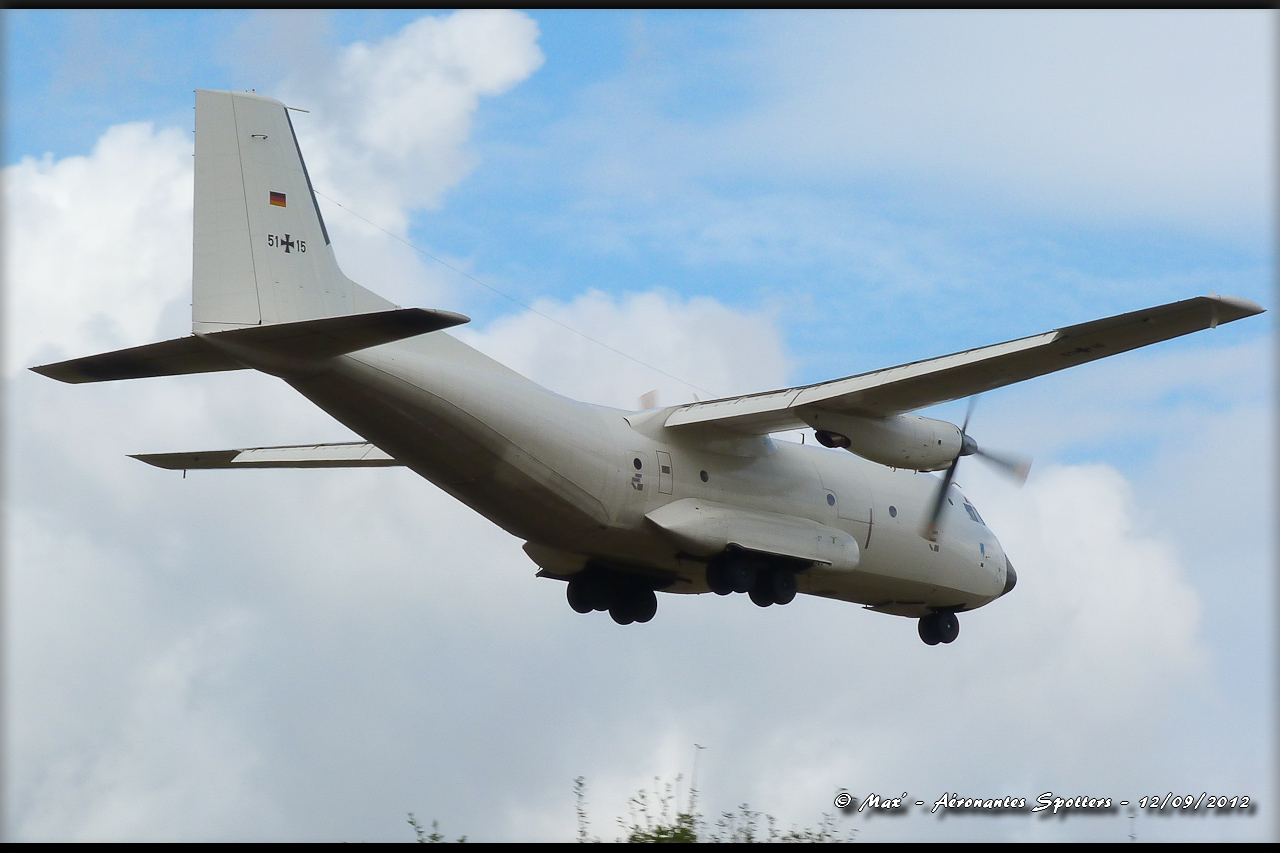 "[12/09/2012] Transall C160 (51+15) German Air Force : livrée ""Albinos"" 12091208294815267110311734"