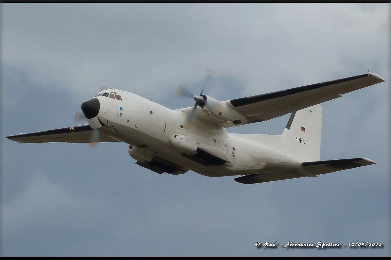 "[12/09/2012] Transall C160 (51+15) German Air Force : livrée ""Albinos"" 12091208294815267110311735"