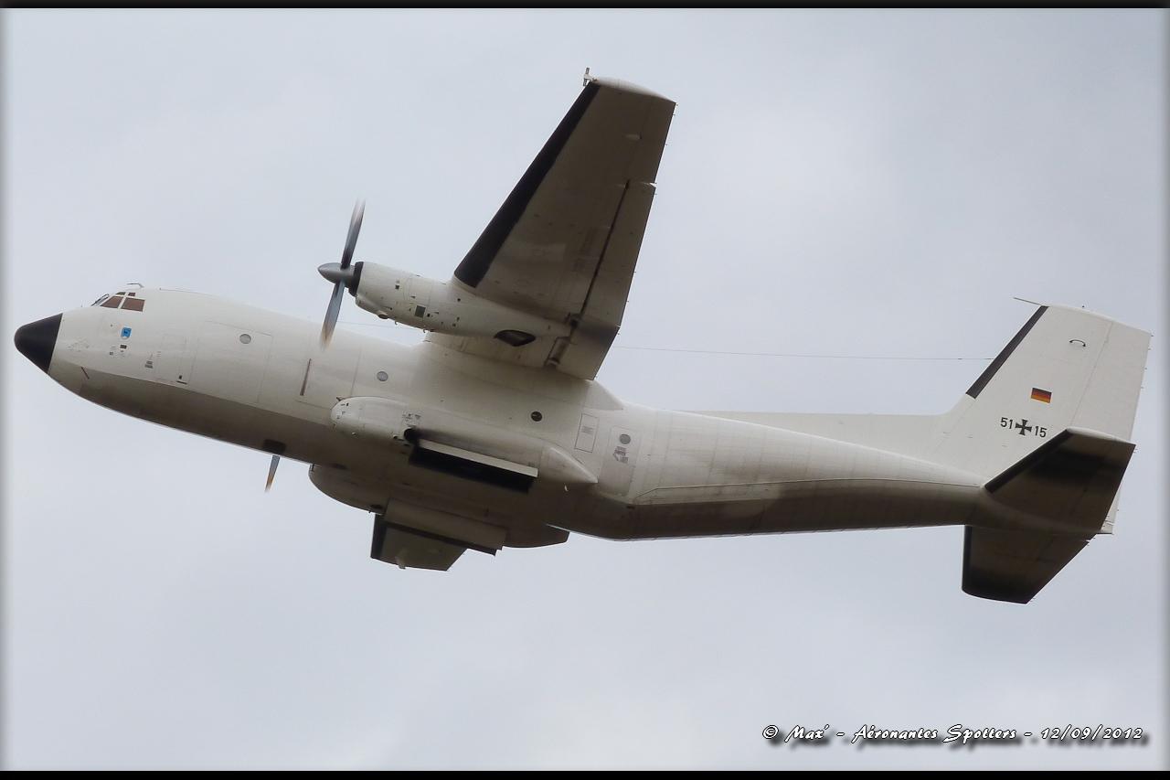 "[12/09/2012] Transall C160 (51+15) German Air Force : livrée ""Albinos"" 12091208294815267110311736"