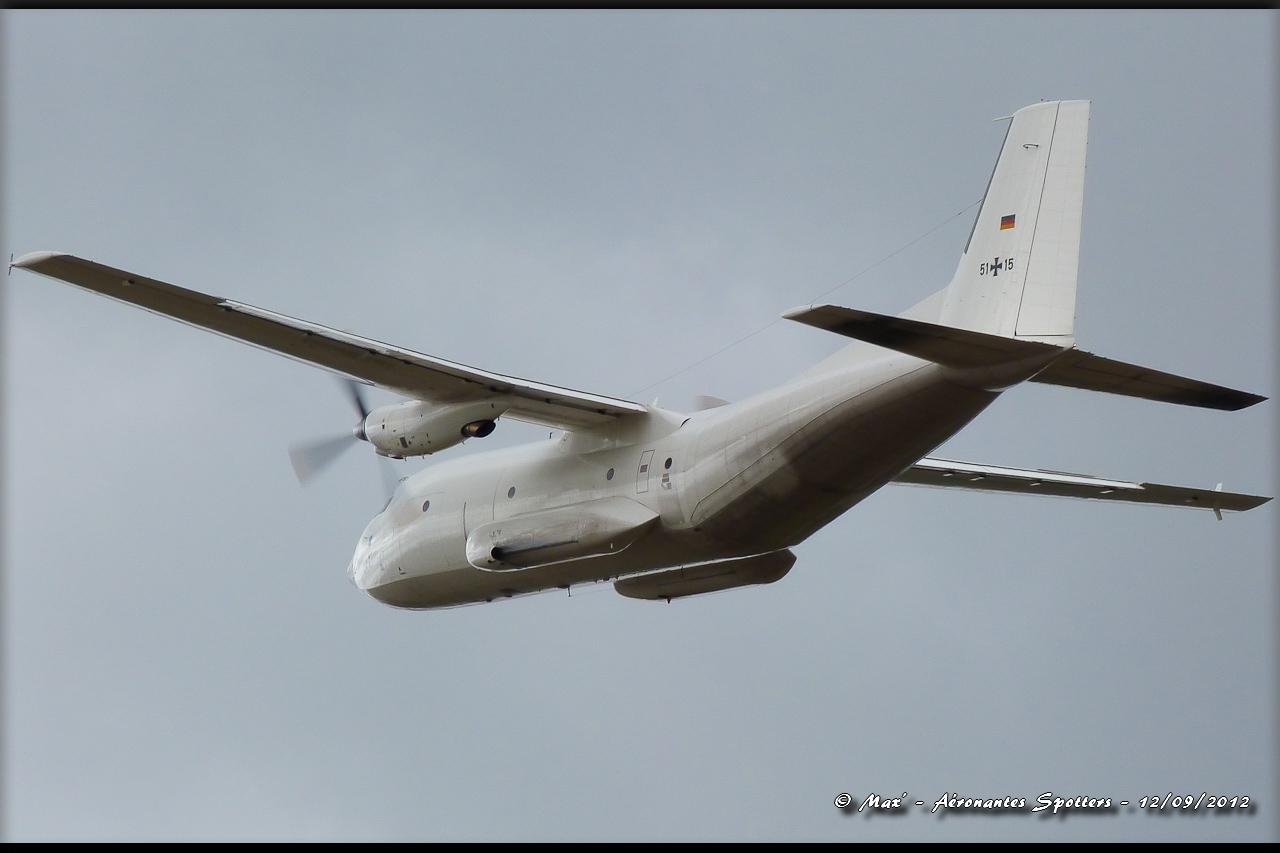 "[12/09/2012] Transall C160 (51+15) German Air Force : livrée ""Albinos"" 12091208294915267110311738"