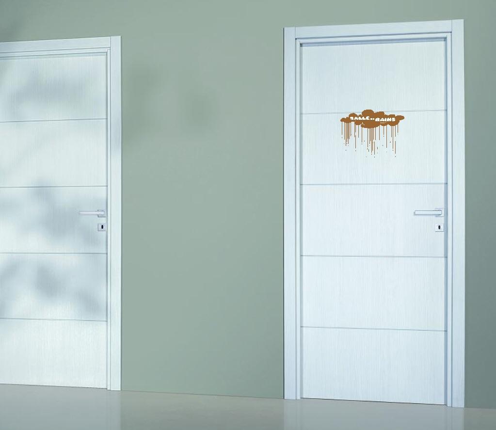 Deco Porte Salle De Bain stickers plaque de porte salle de bains ref 4 bis personnage