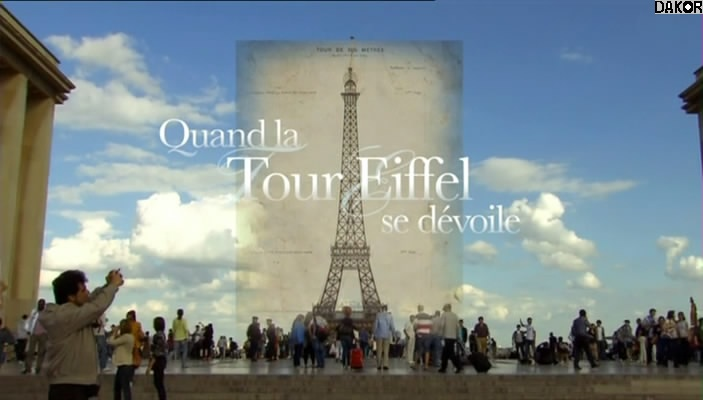 Quand la tour Eiffel se dévoile