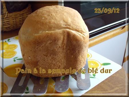 Pain à la semoule de blé dur 1209230528186838310352534