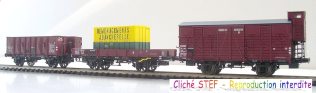 L.S. Models - Coffret de 3 wagons PLM type OCEM 1210061006058789710404709
