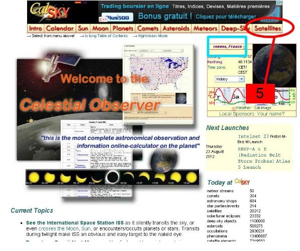 Tutoriel: logiciel CALSKY (la recherche de méprises avec des satellites) 1210231214219277710468284